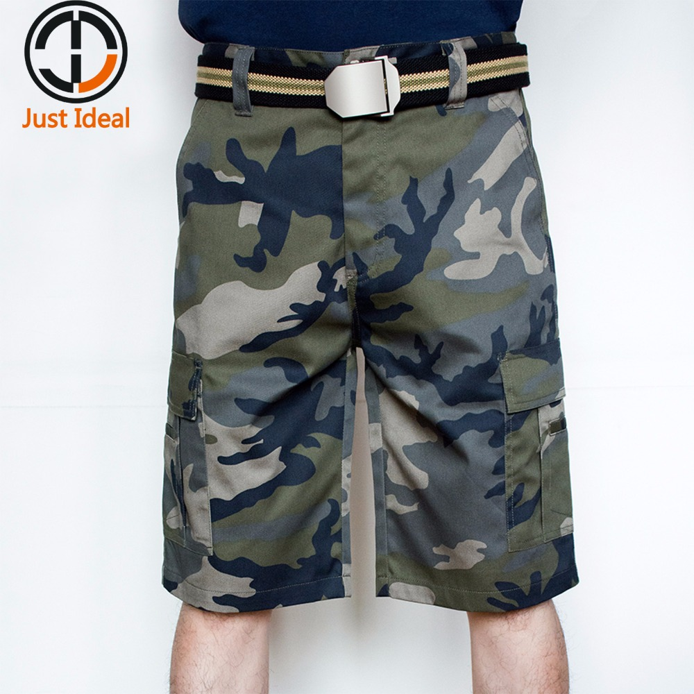 Mens Military Shorts Fashion Army Camouflage Shorts Cargo Short Summer Bermuda Brand Clothing High Quality 28 40 42 ID807
