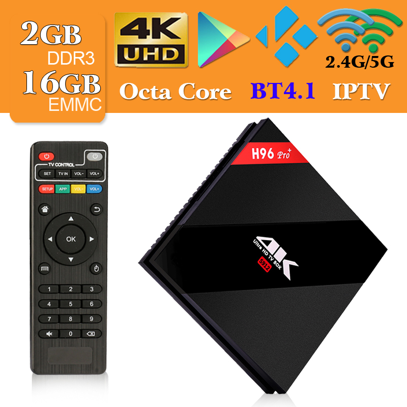 Android 7.1 TV Box H96 Pro Plus 2GB RAM 16GB ROM Set Top Box Amlogic S912 2.4G/5GHz wifi BT 4.1 4K H.265 Media Player h96 pro h96 pro smart android 7 1 tv box 3gb 32gb 3gb 16gb 2gb 16gb amlogic s912 wifi h 265 bt4 1 kd16 1 4k media player h96 pro plus