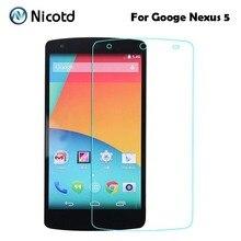 2.5D Ultrathin פרימיום מזג זכוכית סרט עבור LG Google Nexus 5 Nexus5 D820 D821 EM01L מסך מגן מגן סרט
