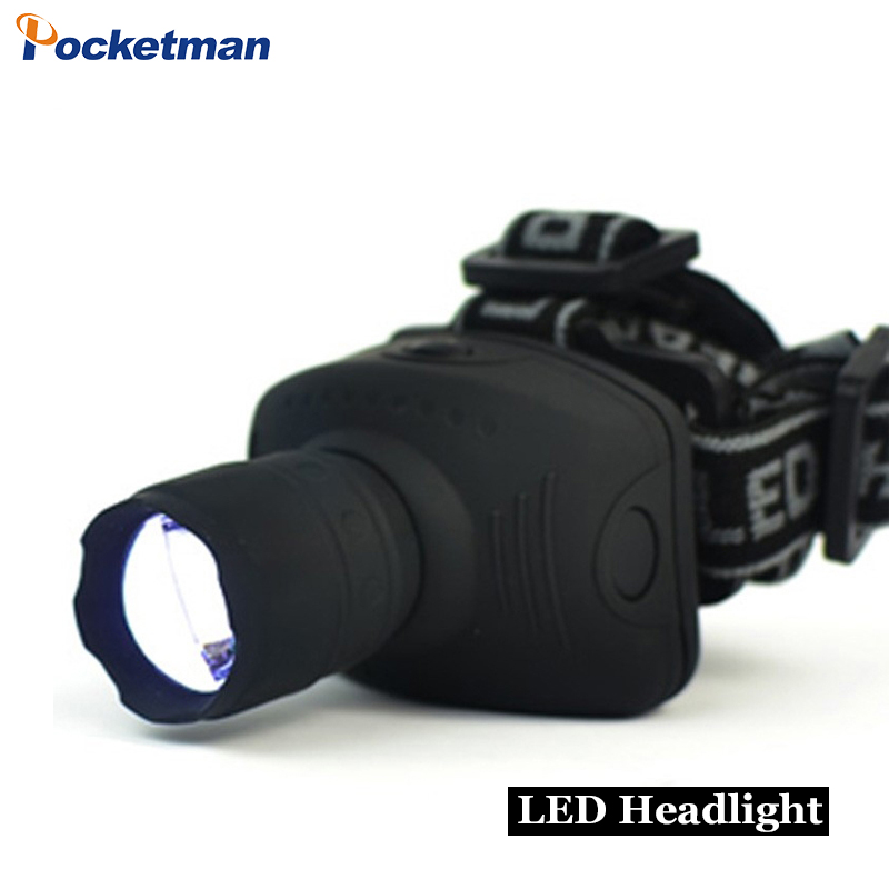 COB Led Headlight Bright Camping Headlamp AAA Battery Torch Zoomable FlashlightS