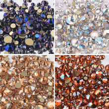 1440 pcs/pack Mixed Size Rhinestones Nail Art Decorations Glitter Crystal AB shining nail art jewelry Gems 3D Accessories