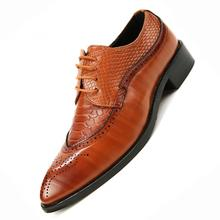 Men Flat Wedding Shoes Mens Wine Red Black Brogue Business Casual Party Gentleman Wedding Shoes Wedding Business Vintage Carved