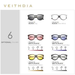 Image 5 - Veithdia ブランドヴィンテージデイナイトデュアルレディースサングラス偏光ミラーレンズ猫目フォトクロミックサングラス女性のための 8520