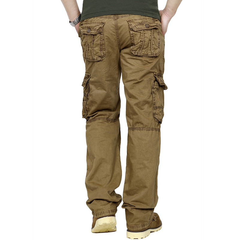 Dickies is the name known best for men's and women's work pants, and they've quite a selection of cargo pants for men with a pocket addiction. Usually in shades of black, grey, blue or khaki, you can find is brand just about anywhere and one pair will cost you between 20 and 30 dollars.