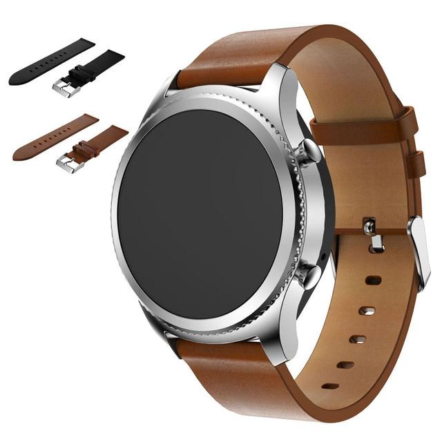 Durable hommes femmes Véritable Remplacement En Cuir bracelet Bracelet  Bracelet Bande Pour Samsung Gear S3 Frontière