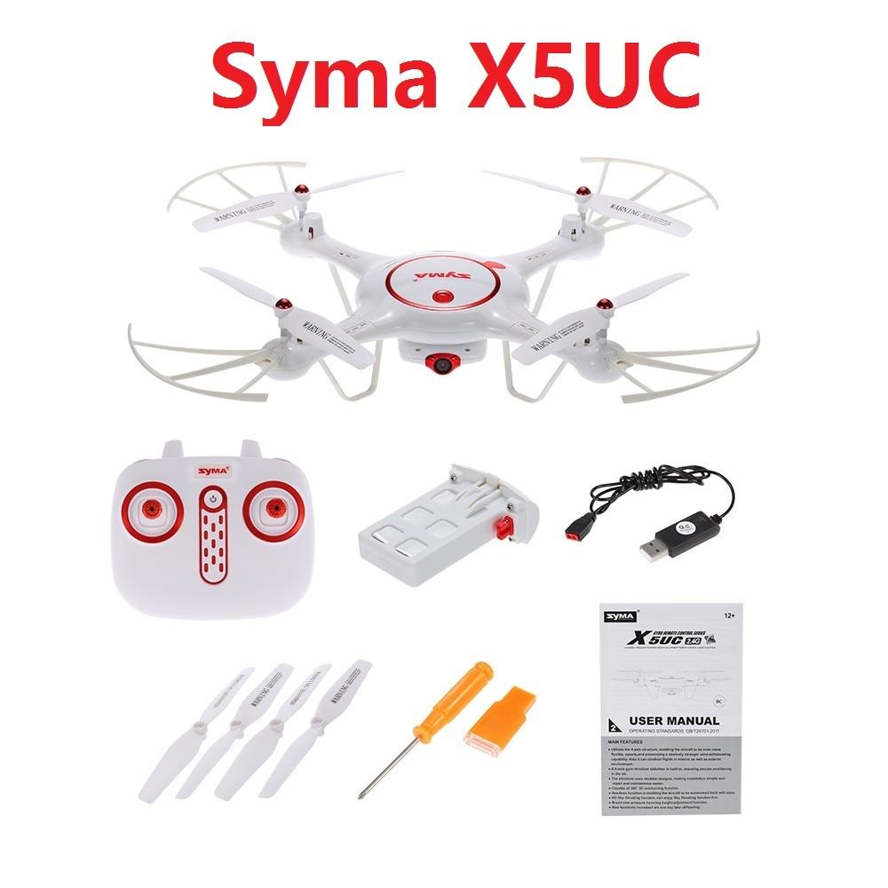 Original syma x5uc rc drone con cámara de 2mp hd 2.4g 6 canales 6axis altitud ho