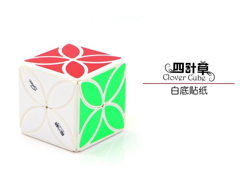 mofangge Клевер Cube Cubo magico твист Puzzle игрушки кубик рубика - Цвет: Белый