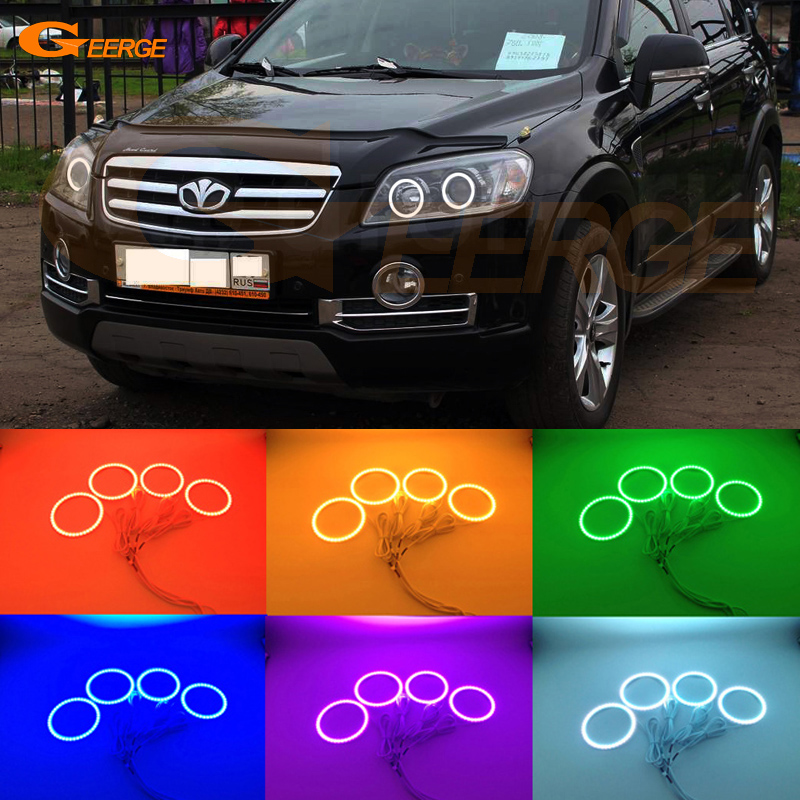 For daewoo winstorm 2006 2007 2008 2009 2010 2011 Excellent led Angel Eyes Multi-Color Ultra bright RGB LED Angel Eyes kit for mercedes benz b class w245 b160 b180 b170 b200 2006 2011 excellent multi color ultra bright rgb led angel eyes kit