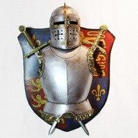 Sala fundo quarto decoração da parede decorada de ferro Europeu armadura Medieval escudo paredes ornamento pingente criativo
