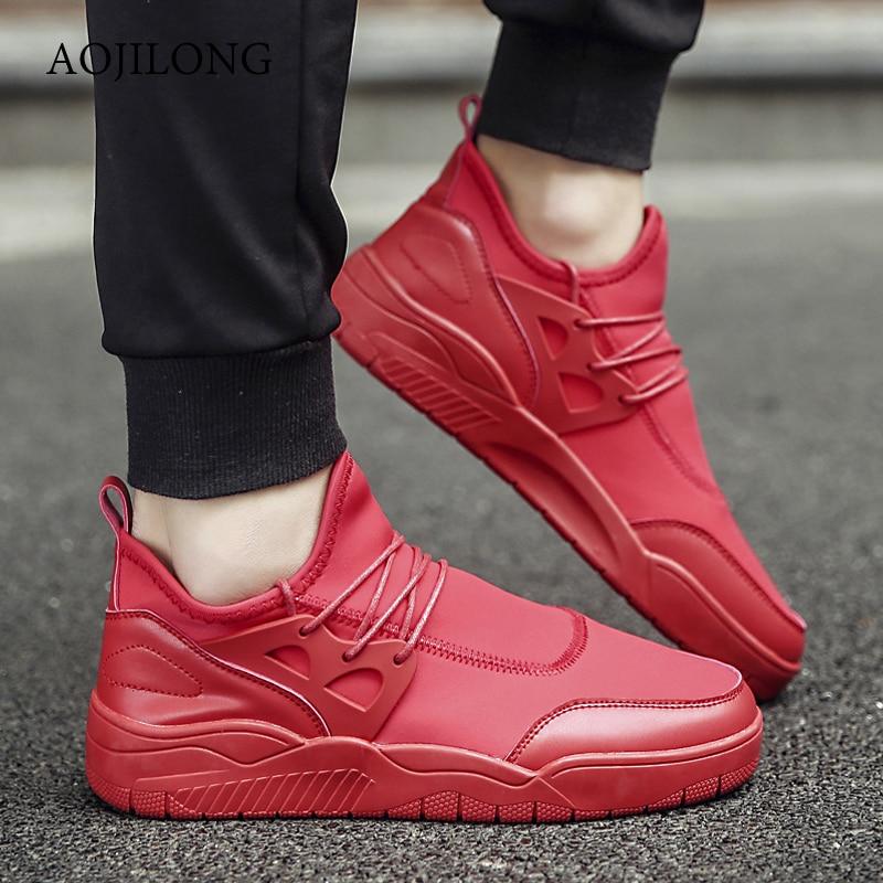 Barato Para Marca Caminar 2017 de Transpirable Zapatos Chaussure Rojo Arriba Retro Plana Ocasional de Para Inferiores Atan Los Zapatos Lienzo Rojos Hombres Hq0TRHnr