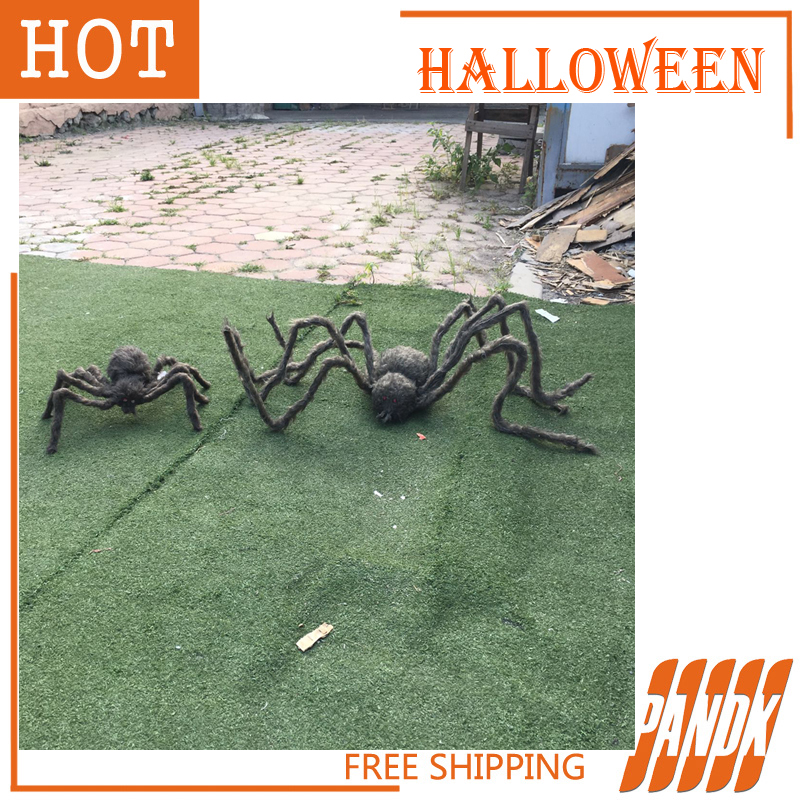 aliexpresscom buy 2pcs color spider halloween decorations spider halloween props haunted house ideas halloween spider party yard free shipping from