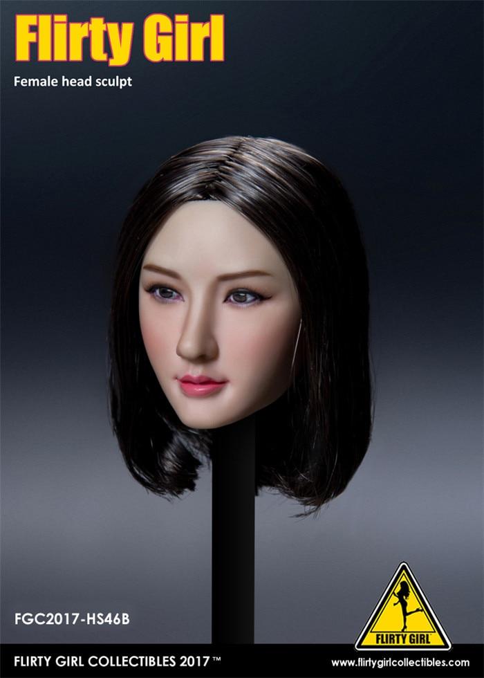 "Flirty Girl 1//6 Scale Female Head Sculpt Model FGC2017-HS46 For 12/"" Figure Body"