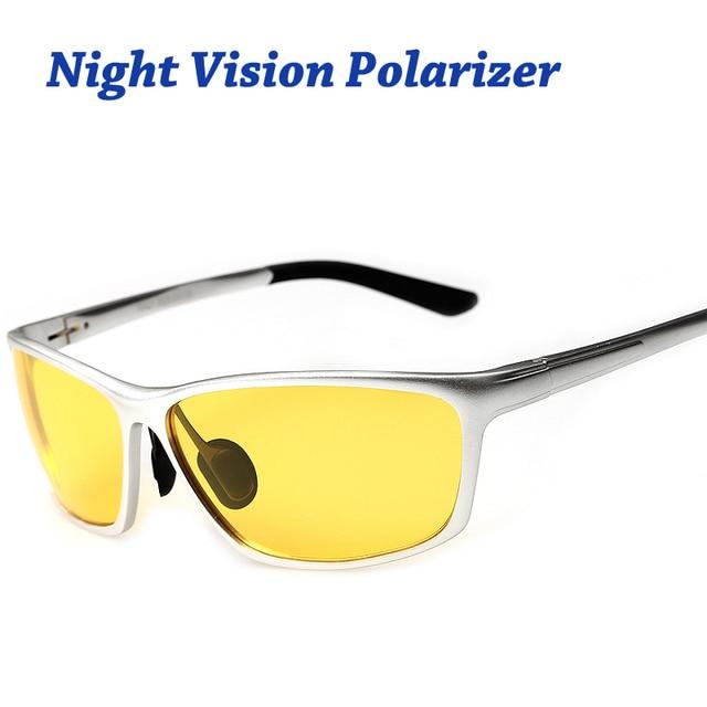 15861e1a7 Gafas de visión nocturna para faro polarizado gafas de sol de conducir  lente UV400 protección noche