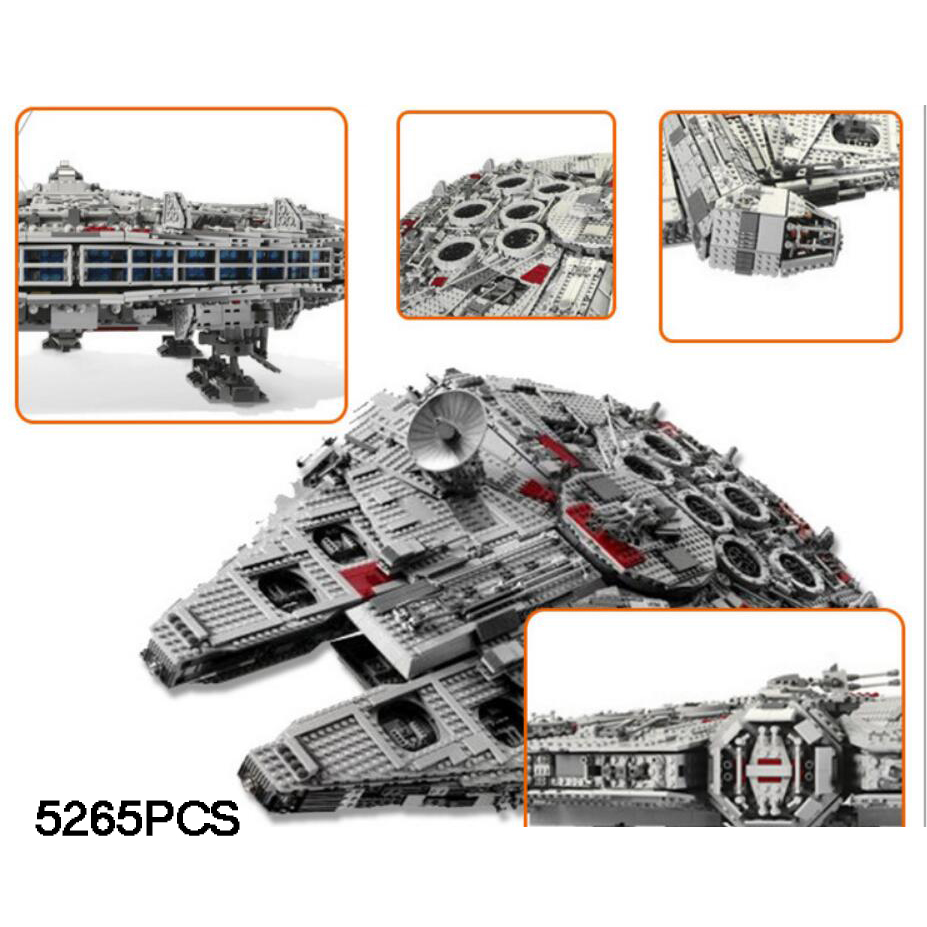 все цены на Hot star battle Ultimate collector Millennium falcon building block Obi-Wan Kenobi Chewbacca figures space war brick 10179 toys онлайн