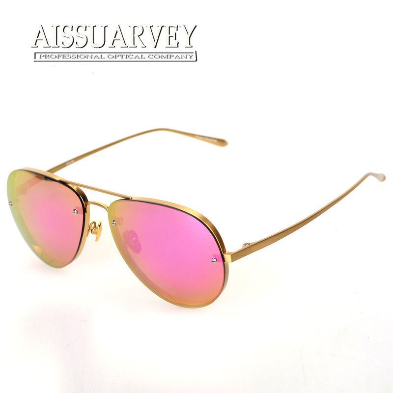 Polarized sunglasses reflection lenses titanium frame top quality light polaroid lens pink driving men women fashion
