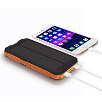8000mAh Large Capacity Power Bank Dual USB Portable Solar Battery Charger Power Bank For Phone High