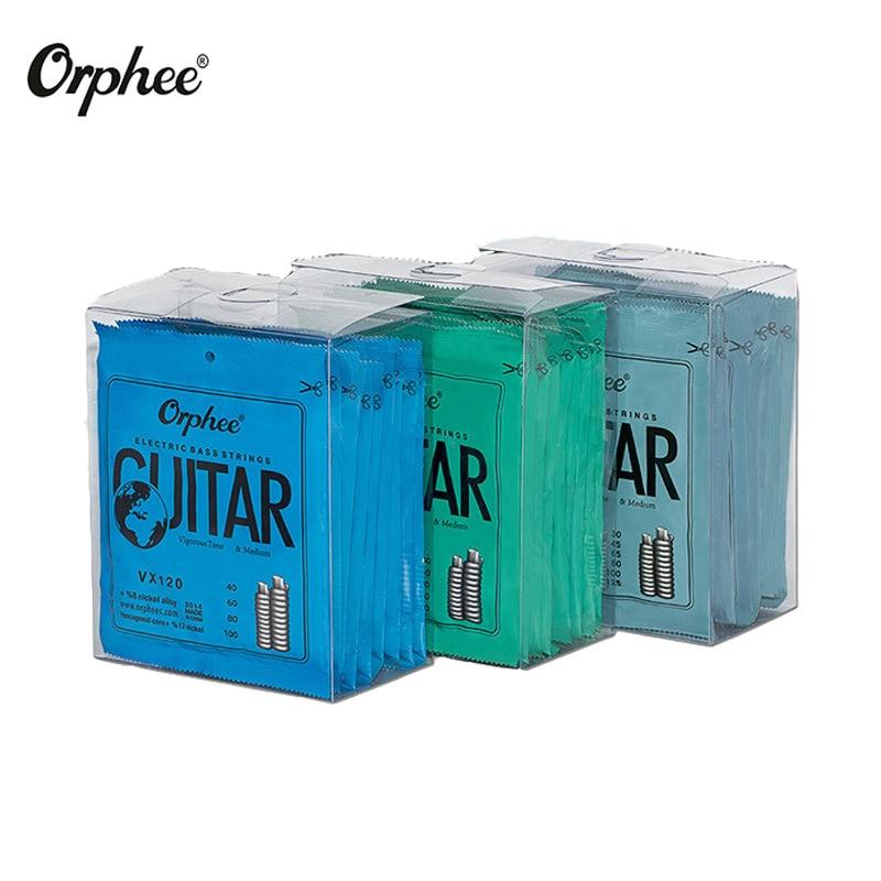 Orphee 10sets lot Electric Bass Strings Hexagonal Steel Nickel Alloy Wire Medium Light Strong Strings Guitar
