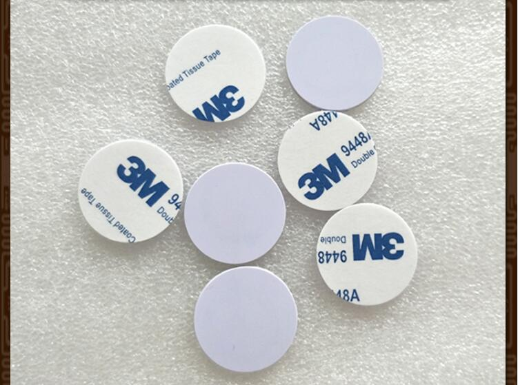 Coin-Card Mifare With Adhesive Pvc Label I-CODE2 ISO15693 100pcs 25mm Agreement