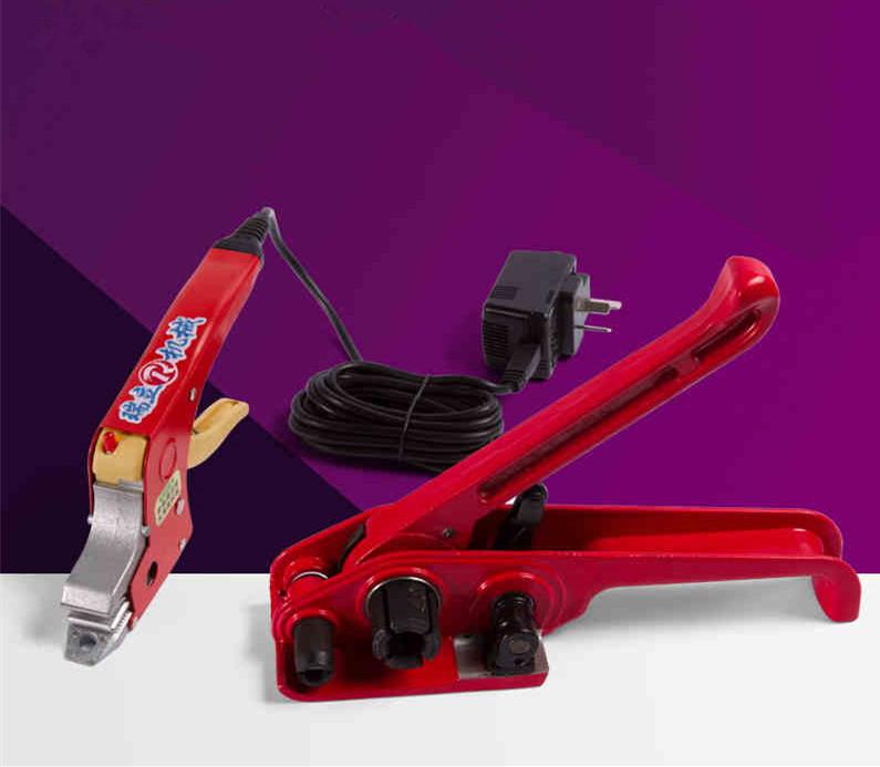ФОТО Hand held carton strapping machine,electrical PP packing equipment, tensioner and electric hot straps welding banding