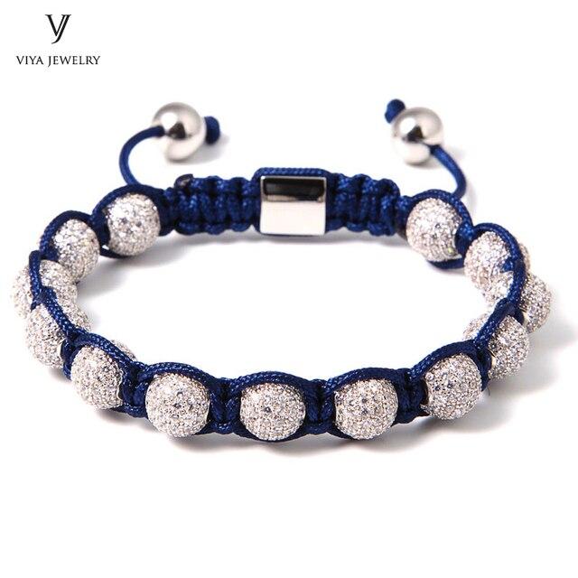 New Fashion Bead Braiding Jewelry For Men/Women Luxury Brass Drill ...