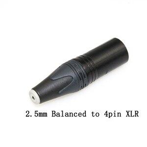 Image 2 - Darmowa wysyłka Haldane 3.5mm/2.5mmm/4.4mm zrównoważony żeński na 4pin zrównoważony XLR męski konwerter Adapter