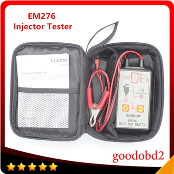 Fuel Injector Tester EM276 Car Car Fuel Injector System Analyzer Scan Tool with 4 Pluse Modes chkk chkk car accessory 0280155794 fuel injector for citroen