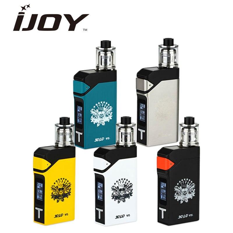 Prix pour 100% d'origine 200 w ijoy solo v2 kit avec solo v2 mod 200 w et 0.4ohm sous ohm réservoir atomiseur 2 ml vs 200 w ijoy rdta boîte Kit