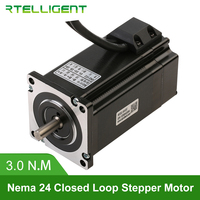 Rtelligent Nema 23 24 60A3EC 3.0N.M 5.0A 2 Phase Hybird CNC Closed Loop Stepper Motor Easy Servo Motor Step servo with Encoder