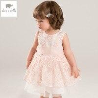 DB5657 Dave Bella Summer Baby Girls Princess Dress Flowers Dress Big Bow Dress Wedding Dress Kids