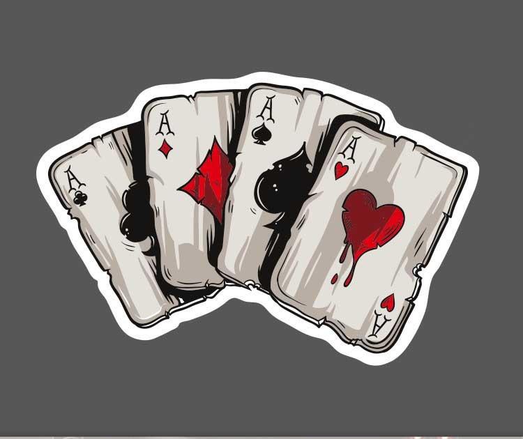 1pcs Poker Waterproof Sticker Single Sale Cool Laptop