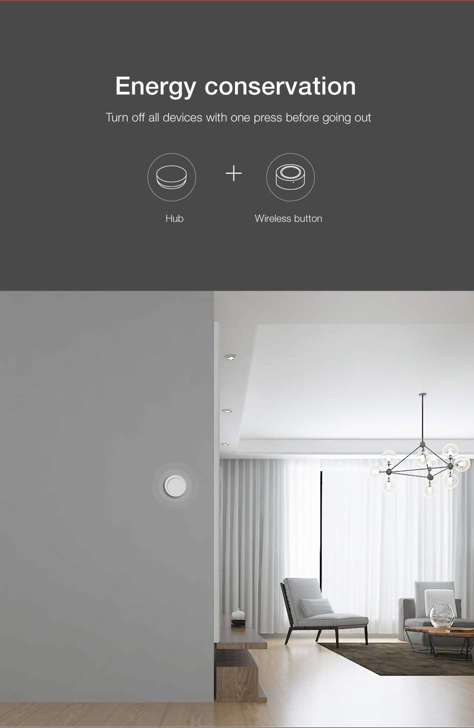 interruptor remoto casa inteligente sem fio aplicativo