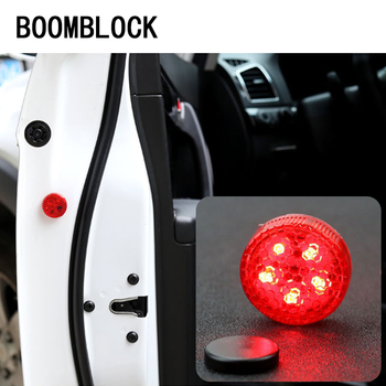 BOOMBLOCK 2pcs car opening door warning light LED universal For Mercedes W204 W210 AMG Benz Bmw E36 E90 E60 Fiat 500 Volvo S80 image