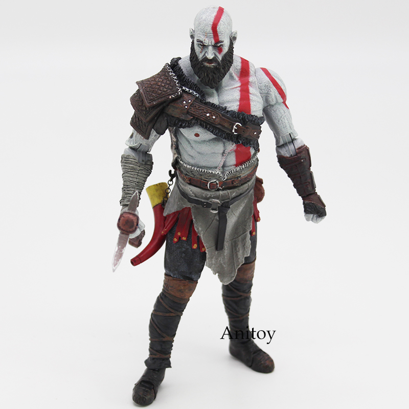 Original God of War 4 Kratos PVC Action Figure Collectible Model Toy 7inch 18cm god of war 2 pvc action figure display toy doll kratos with medusa head