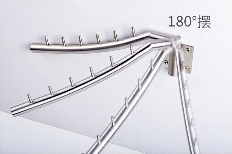 free shipping adjustable 304 stainless steel clothes hanger laundry rack drying rack wall clothes dryer in hooks rails from home garden on - Clothes Wall Hanger