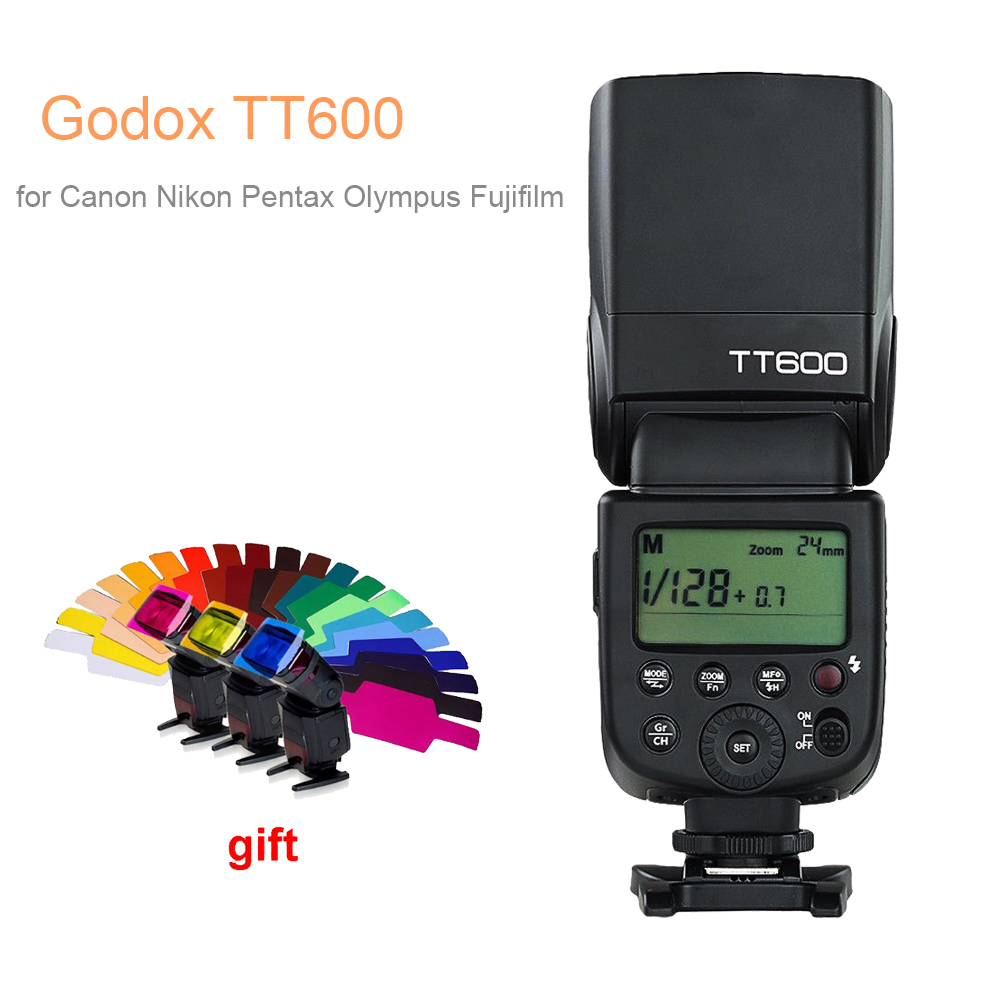 Godox TT600 2.4G Wireless GN60 Master/Slave Camera Flash Speedlite for Canon Nikon Pentax Olympus Fujifilm DSLR godox thinklite tt600 flash speedlite for canon nikon pentax olympus fujifilm with a built in 2 4 g wireless trigger system gn60