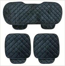 Calidad De Terciopelo de Seda Suave Universal Car Seat Covers Set cojín Para Silla de Respaldo Del Asiento Delantero-Negro