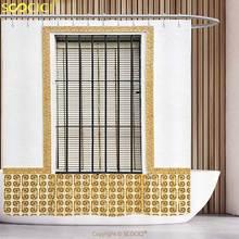 Stylish Shower Curtain Shutters Decor Image Of Modern Spanish Window And With Mosaic Patterns Urban