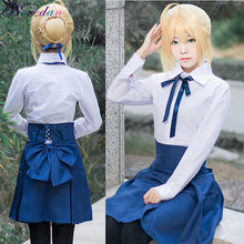 Fate Stay Night Sabel Cosplay Kostuums Japanse Anime Sailor Uniformen Vrouwen Cosplay Dress Halloween Party Kleding Set(China)
