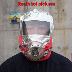 Image 3 - 30 minutes Fire escape mask Forced certification Fire respirator gas mask Emergency escape respirator mask