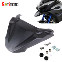 KEMiMOTO MT09 Tracer Front Wheel Fender Beak Nose Cone Extension Cover For YAMAHA FJ09 FJ MT 09 Tracer 2015 2016 2017 2018 2019