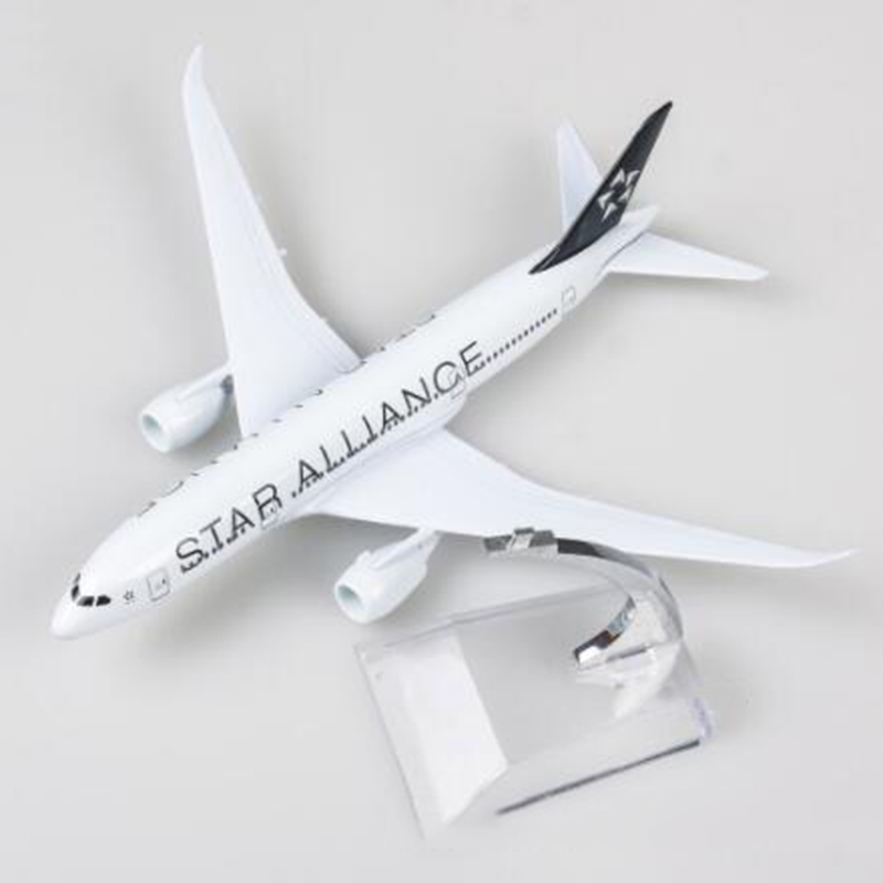 Boeing787 airline model 18CM 1:300 scale display toy airplane B-787-9 aircraft
