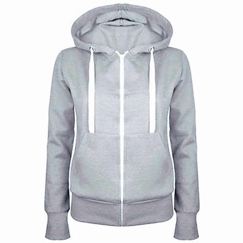 Classic Women Hoodies  New Spring Autumn Zipper Hooded Sweatshirts Tie Collar Hoody Jacket Women's Coat Pockets Outerwear