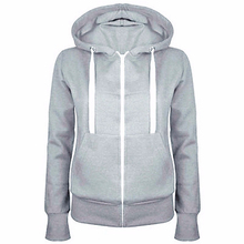 Classic Women Hoodies New Spring Autumn Zipper Hooded