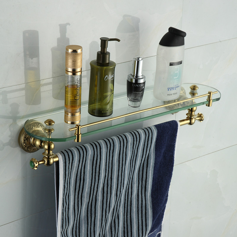 Buy bathroom accessories solid brass - Bathroom accessories glass shelf ...