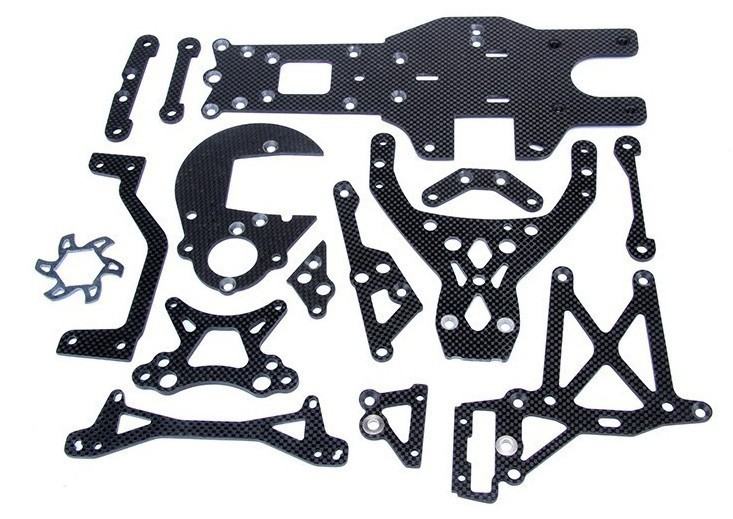 Baja upgrade parts,Carbon Fiber Package set fit HPI KM ROVAN BAJA 5B 5T 5SC KING MOTOR TRUCK Free shipping  85237 silver eve got 2