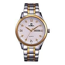 Luxury brand watches men fashion leisure business dress gold crystal men's quartz wrist watch waterproof 50m CASIMA #5117