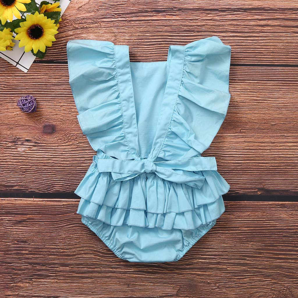 Прочный комбинезон без рукавов для новорожденных девочек; боди с оборками; одежда; Детский комбинезон с оборками; боди bebe algodon
