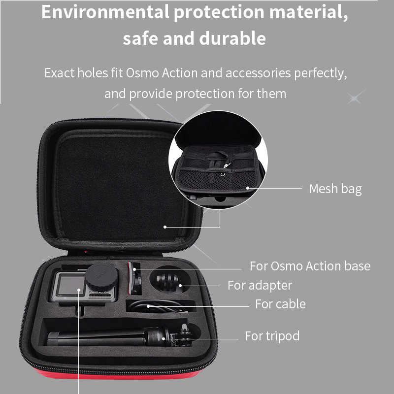Dji osmo ação esportes acessórios da câmera dji osmo saco de bolso à prova dji água caso eva com lente capa alça de pulso