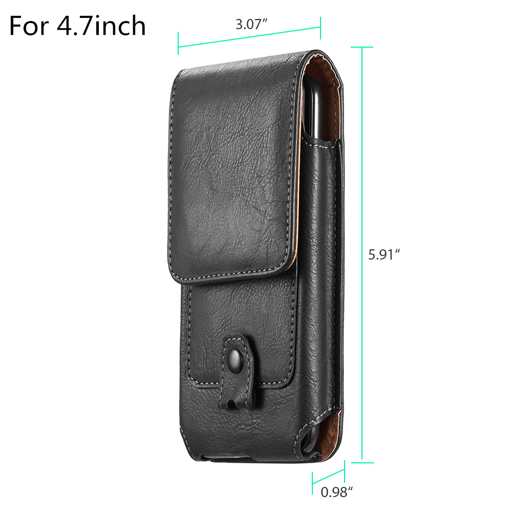 Universal Pouch Leather phone Case For iphone XS X 7 8 plus Waist Bag Magnetic holster Belt Clip phone cover for redmi 5 plus  (10)