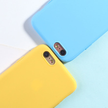 Silicone Case For iPhone 5 5s SE Cases Luxury Candy Color Soft TPU Shell Phone Back Covers For iPhone 6 6s 7 8 plus x xr xs max цена и фото